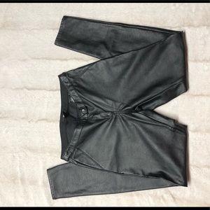 H&M Women's Leather VEGAN Pants - Size 8